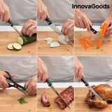 Sada nožov s dreveným stojanom InnovaGoods (6 dielov)