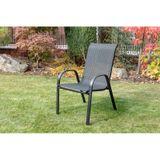 Záhradná stolička RAMADA čierna