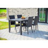 Záhradný jedálenský stôl VIKING L