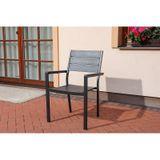 Jedálenský set VERONA 150 + 4 stoličky antracit