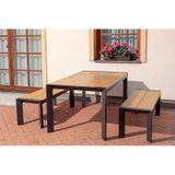 Jedálenský set VERONA 150 + 2 lavice