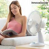 Stolný ventilátor InnovaGoods 30 cm, 35W, biely