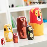 Drevená matrioška s postavičkami zvieratiek Funimals InnovaGoods 11 dielov