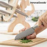Sada nožov s dreveným stojanom Spartan InnovaGoods 7 dielov