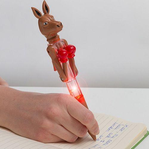 Guľôčkové pero s LED Kengura boxer