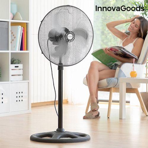Industriálny stojanový ventilátor InnovaGoods 45 cm, 75W, čierny