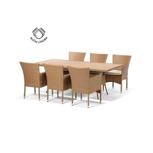 Jedálenský set FLORENCE 200 + 6 stoličiek BALI cappuccino