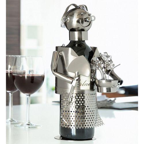 Kovový stojan na víno Záhradník
