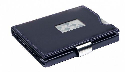 Kožená peňaženka EXENTRI tmavopurpurová