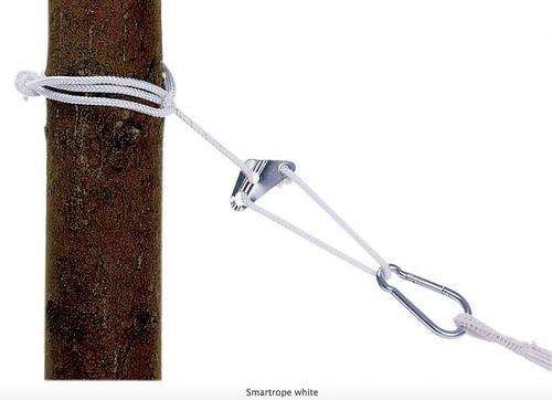 Lano na hojdacie siete a kreslá AMAZONAS - Smartrope, biele