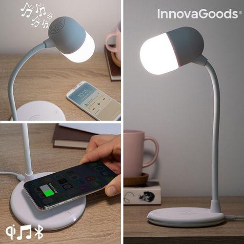 LED lampa s reproduktorom a bezdrôtovou nabíjačkou Akalamp InnovaGoods