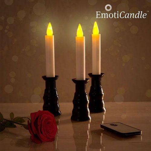 LED sviečky Romantic Ambiance EmotiCandle (3 kusy)