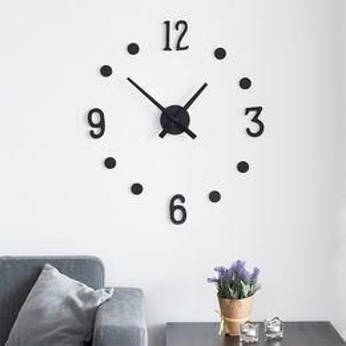 Nalepovacie hodiny na stenu DIY (13 častí)
