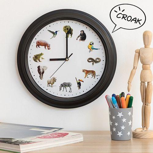 Nástenné hodiny Zvuky zvierat