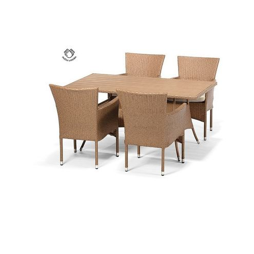 Jedálenský set FLORENCE 150 + 4 stoličky BALI cappuccino