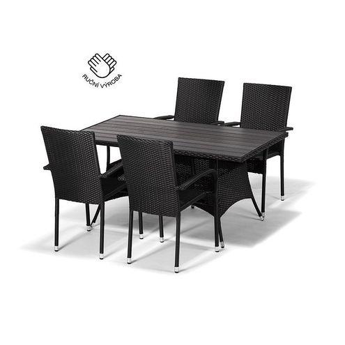 Jedálenský set FLORENCE 150 + 4 stoličky PARIS antracit