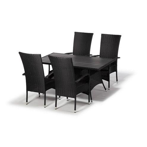 Jedálenský set FLORENCE 150 + 4 stoličky PARIS XXL antracit