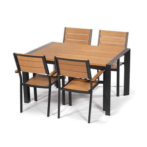 Jedálenský set VERONA 150 + 4 stoličky cappuccino