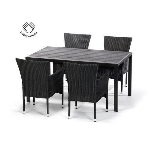 Jedálenský set VIKING L + 4 stoličky BALI