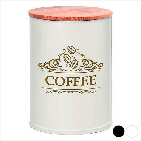 Kovová dóza na kávu, biela