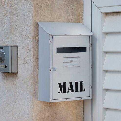 Kovová schránka na listy biela Mail