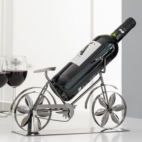 Kovový stojan na víno Bicykel