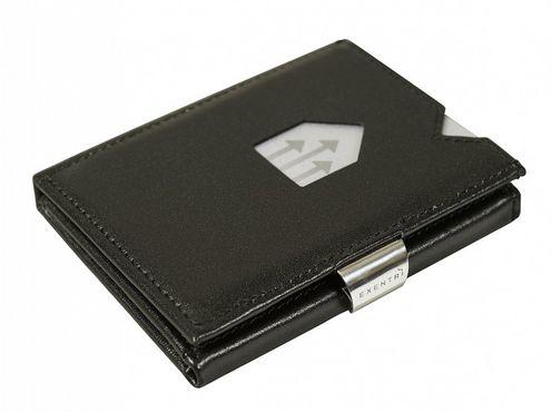 Kožená peňaženka EXENTRI, čierna RFID block