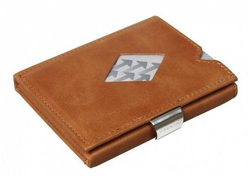 Kožená peňaženka EXENTRI koňaková RFID block