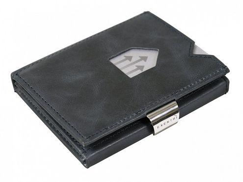 Kožená peňaženka EXENTRI, modrá RFID block