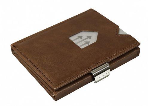 Kožená peňaženka EXENTRI, oriešková RFID block