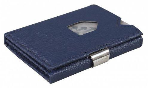 Kožená peňaženka EXENTRI saffiano, modrá