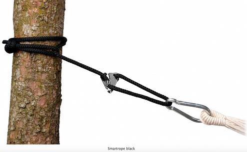 Lano na hojdacie siete a kreslá AMAZONAS - Smartrope, čierne
