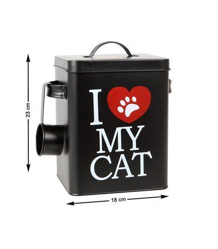 Nádoba na granule pre mačku s dávkovačom I Love My Cat