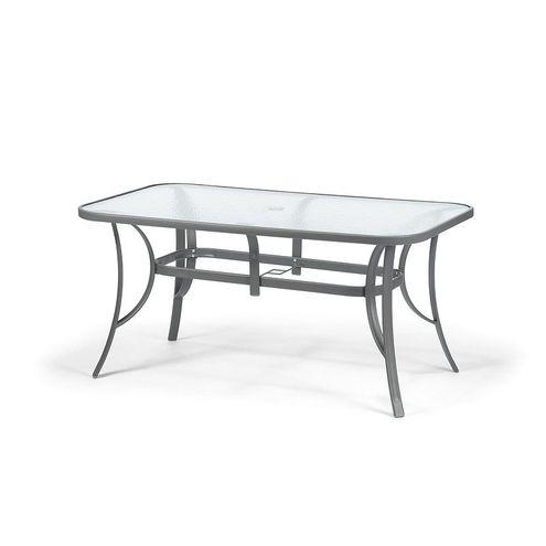 Oceľový záhradný stôl STANDARD XL sivý