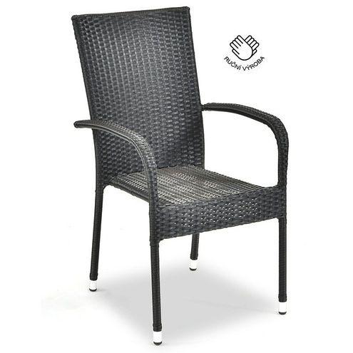 Ratanová stolička PARIS antracit