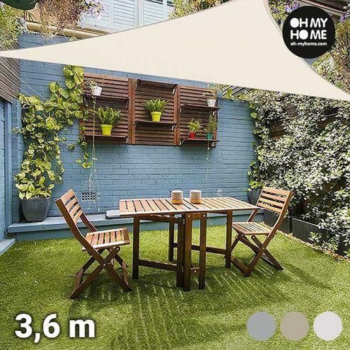 Trojuholníková tieniaca plachta Ambience Oh My Home (3,6 metrov)