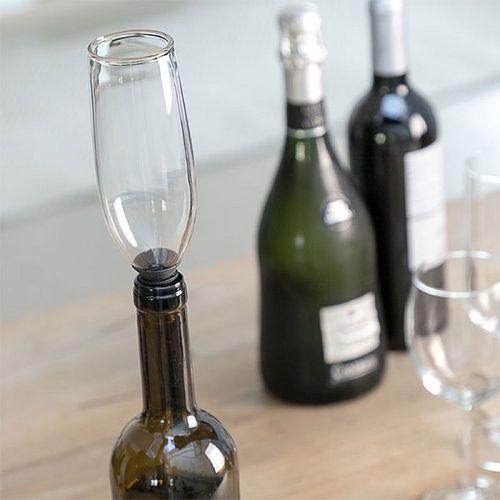 Sklenená zátka na fľaše Pohár Glam