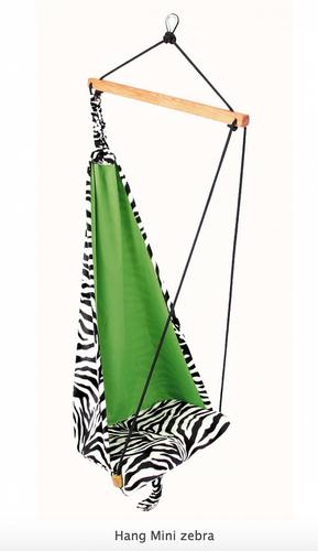 Závesné kreslo pre deti AMAZONAS Hang Mini - zebra